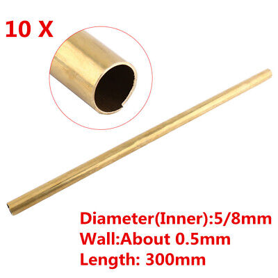 5/8MM Dia Hardware Brass Round Bar / Rod Circular Wire Tube Modelmaking 10PC/Set
