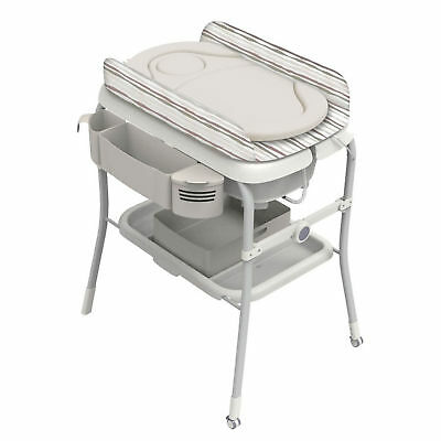 Chicco Silver Cuddle & Bubble Comfort Baby Bath And Compact Fold Changing Table