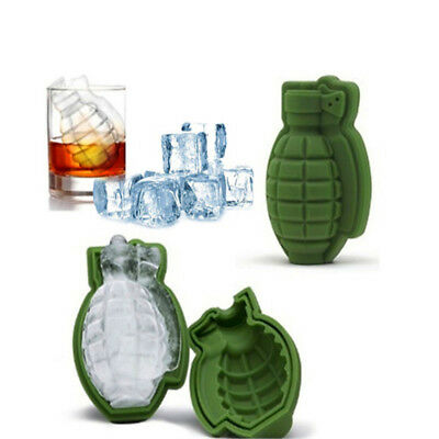 3D Grenade Shape Silicone Trays Molds Ice Cube Mold Ice Cream Maker Party Drinks