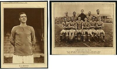 Supplement to Sport Pictures - 2 Cardiff City Photos - 1922 - FreePost