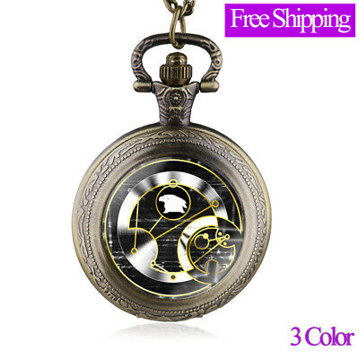 New Arrivals Antique Doctor Who Pocket Watch Necklace Men Unisex Retro Gift