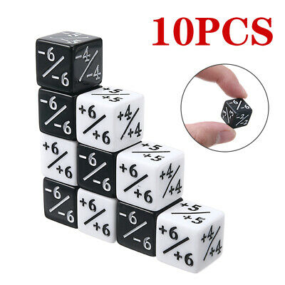10pcs/set  For Magic: The Gathering Game Counters Counting +1/+1 Dice Kids Toy