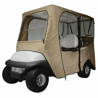 DLX GOLF CAR ENCLOSURE LONG ROOF, Khaki - Classic# 40-050-345801-00