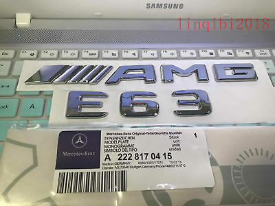 """2018 """" E63 + AMG """" High quality Rear Trunk Emblem Decal Badge FOR Mercedes Benz"""