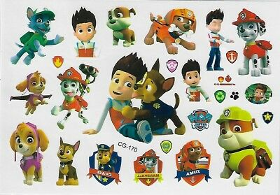 Paw Patrol Einmal Tattoos Temporary Tattoo Hund Temporöre Tattoo Body Sticker 1
