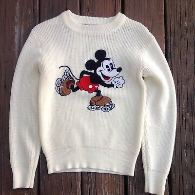 Vtg Mickey Mouse Sweater Walt Disney American Characters Kid Youth Child 80s 90s