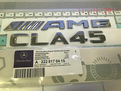 "2018 "" CLA45 + AMG"" High quality Rear Trunk Emblem Decal Badge FOR Mercedes Benz"