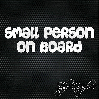 SMALL PERSON ON BOARD baby child funny warning safety car window sticker decal
