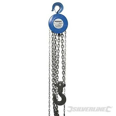 Silverline Chain Block 5000kg / 3m Lift Height - 5 Ton 282517