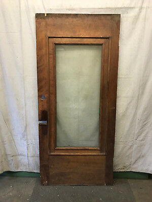 Full Glass Salvaged Front Wood Door Architectural Vintage 36x80 12