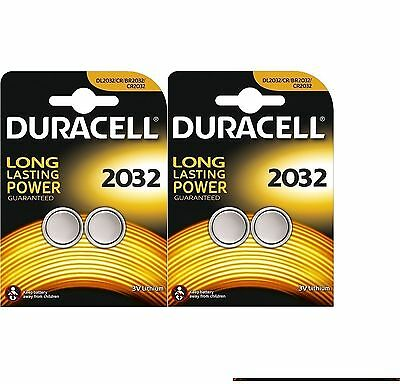 4 X Duracell Dl/Cr 2032 3V Lithium Coin Cell Battery Batteries Expiry 2024