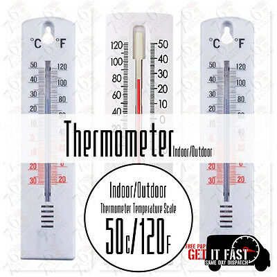 New Wall Thermometer - Indoor Outdoor Garden Greenhouse Home Office Room