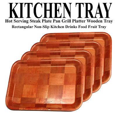Kitchen Wooden Serving Platter Hot Serving Tray Plate Platter Wooden Tray Plate