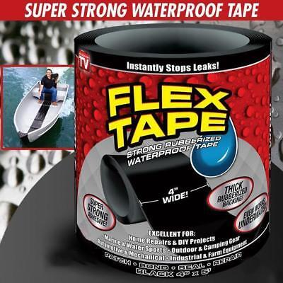 "4"" X 5' Flex Tape Patch Bond Super Strong Rubbrized Waterproof Seal Repair Tape"