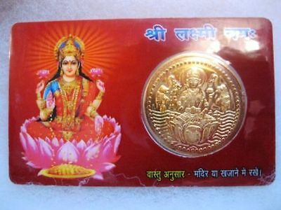 Goddess Laxmi Dhan Laxmi Vaibhav Laxmi Pocket Yantra In Card~Temple, Home,purse,