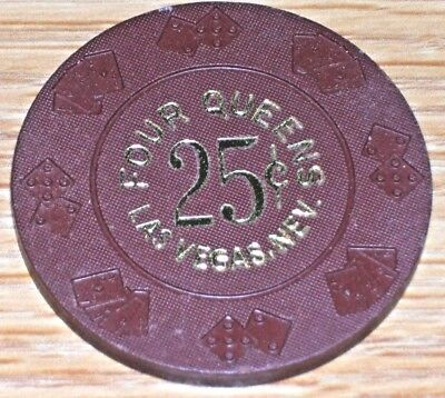 $.25 10Th Edt Fractional Gaming Chip From The Horseshoe Casino Las Vegas Nv