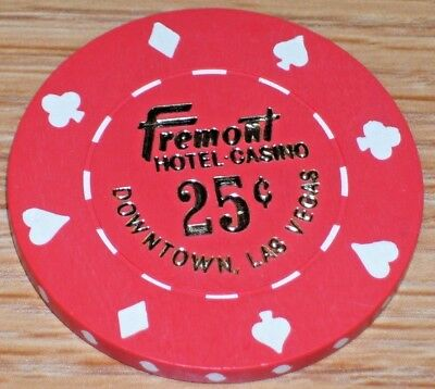 .25 cent 10TH EDT FRACTIONAL GAMING CHIP FROM THE FREMONT CASINO LAS VEGAS NV