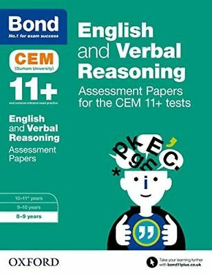 Bond 11+ English and Verbal Reasoning Assessment Papers for the (PB) 0192742825
