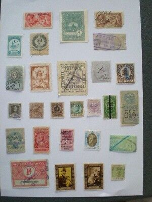 Colonial and world early fiscal revenue / cinderella spacefiller stamps  A