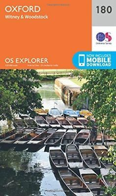 *NEW* - OS Explorer Map (180) Oxford, Witney and Woodstock (Map) - 0319243737