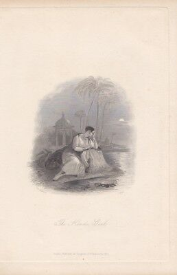 The Hindu Girl, Inderin, Stahlstich um 1840 von C. Heath nach F.P. Stephanoff, B
