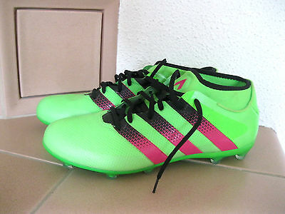 adidas-ACE-16-2-Primemesh-FG/AG Football-Shoes AQ 2552 grün 12 1/2 Gr. 47 neuw.