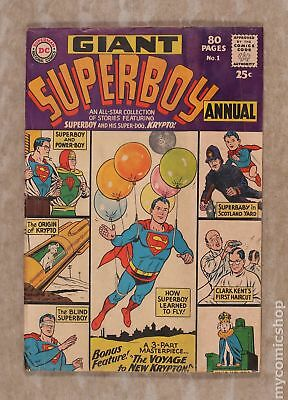Superboy (1st Series DC) Annual #1 1964 GD/VG 3.0
