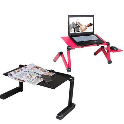 Laptop Computer Notebook Table Stand Desk Bed Tray Adjustable Portable Folding