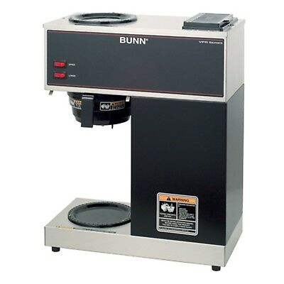 BUNN 33200.0000 VPR 12-Cup Commercial Coffee Brewer Upper and Lower Warmers