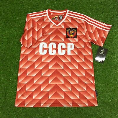 VINTAGE ADIDAS CCCP 80 s National Soccer Team Jersey Home Shirt ... 46eef6e73