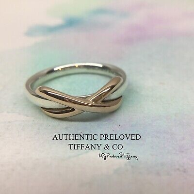 21557c3fe Mint Authentic Tiffany & Co. Infinity Ring Silver Rose Gold RP$550