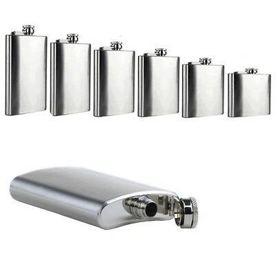 4 5 6 8 9 10 18oz Liquor Stainless Steel Pocket Hip Flask Screw Cap with Funnel