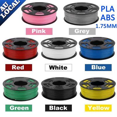3D Printer Filament 1.75mm PLA ABS PC PETG WOOD 1KG Colours Engineer Drawing MN
