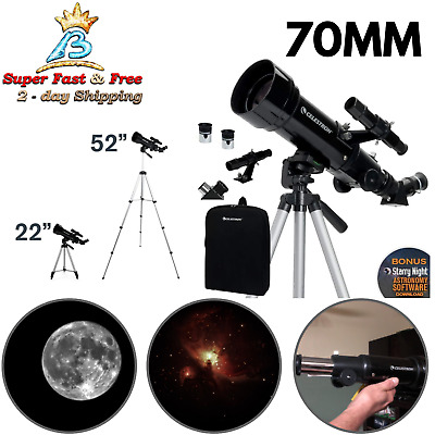 Astronomical Refracter Telescope 70 MM Travel Scope With Tripod And Backpack New