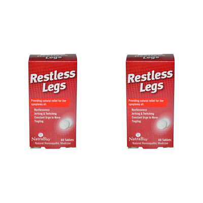 2X Natrabio Restless Legs Jerking Twitching Tingling No Drowsy Effective Relief