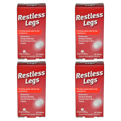 4X Natrabio Restless Legs Jerking Twitching Tingling No Drowsy Effective Relief
