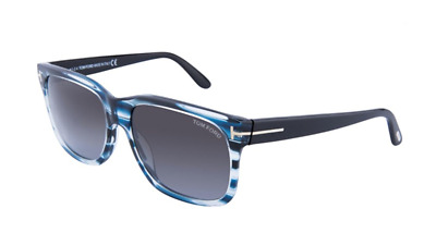 a3dd8e3dca600 Authentic TOM FORD 0376F - 90B Sunglasses Shiny Blue  Gradient Smoke  NEW   60mm