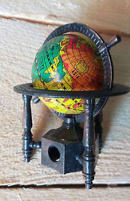Temperino Mappamondo Metallo Vintage Pencil Sharpener