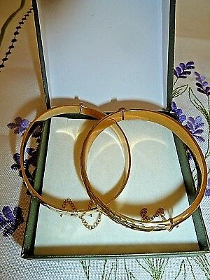 Very Pretty    Pair    Of     Rolled Gold Bangles,
