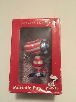 Department 56 Snoopy by Design Patriotic Pup Figurine Stars And Stripes NEW