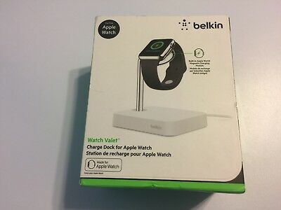 Belkin Watch Valet Apple Watch Charge Dock Station White NEW in Box