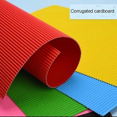 A5 Colored Corrugated Cardboard Craft paper Kids art Scrapbooking OR042
