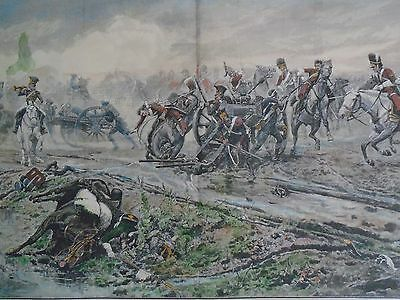 UNION BRIGADE BATTLE OF WATERLOO  Hand coloured military print jack mummery