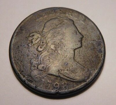 1798 Draped Bust Cent S-185 R-2