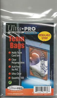 Pack of 100 -Ultra Pro Soft Team Set Bags Card Sleeves Protect Cards Brand New