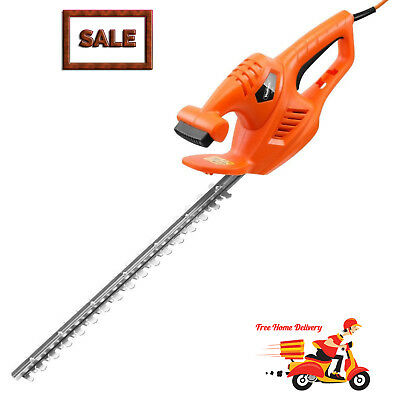 Garden Hedge Trimmer Electric Corded Lightweight 450W Easy Tree & Shrub Cutter