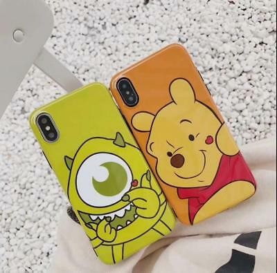 Cute Cartoon Bear Soft TPU IMD Rubber Phone Case Cover For iPhone X 6s 7 8 Plus