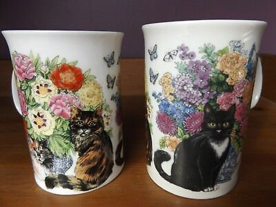 Dunoon Sophisticats Cat  Mugs / Cups by Sue Scullard.