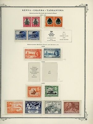 British Africa Album Page Lot #SP65 - KUT - SEE SCAN - $$$