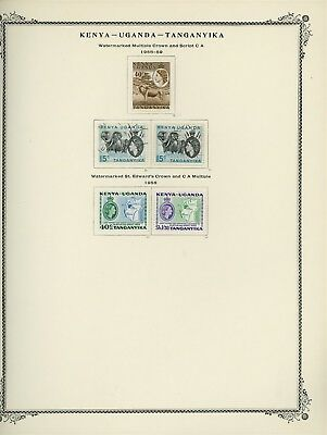British Africa Album Page Lot #SP68 - KUT - SEE SCAN - $$$